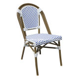 Outdoor Furniture French Bistro Synthetic Woven Rattan Cafe Chair