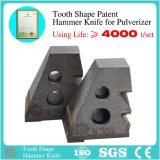 Patent Tooth Shape Hammer Knife of Pulverizer/Feed Machine with Inlaid Alloy