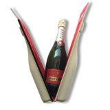 PU Leather Custom Lightweight Traveling EVA Wine Bottle Bag with Foam