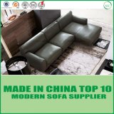 American Style Living Room Feather Leather Corner Sofa