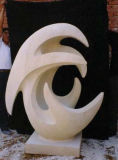 Marble Garden Stone Carving Sculptures, Home Decoration, White & Grey Abstract Statues.