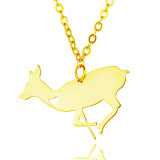 Promotion Gift Fashion Stainless Steel Tag Fawn Necklace Jewelry