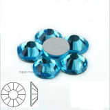 High Quality Lead Free Round Flat Back Acrylic Rhinestone for DIY Accessories (FB-ss12 aquamarine)