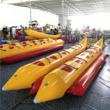 Cheap Nice Quality Newest Double Rows 6 8 10 12 Person 0.9mm PVC Inflatable Banana Boat for Sale Manufacture