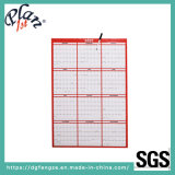 "Custom 48X32"" Dry Erase Reversible Vertical Horizontal Red Paper Yearly Wall Calendar"