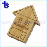 Bulk Cheap Wholesale Wood House Pen Drive Flash Memory