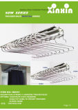 Top Mounted Pull out Trousers Rack for Wardrode (silver painting finish)
