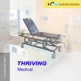 Hospital Stainless Steel Adjustable Transport Bed (THR-E-15)