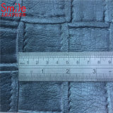 Guangzhou Huadu Big Size Braided Embossed PVC Bags Fabric Leather Sofa Material