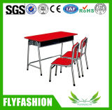 High Quality School Furniture Double Desk and Chair for Sell (SF-32C)