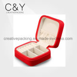 Fashion Leather Jewelry Box with Square Shape