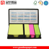 Neon Color Printed Sticky Note Pad with PU Holder