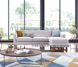 Popular Modern Living Room Fabric Sofa with Small Size (S6081)
