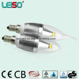5W CREE Chip Dimmable E14 Scob LED Candle Light Bulb (LS-B305-SB-CWWD)