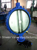 Ductile Iron Lug Type Butterfly Valve with Gear