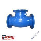 Cast Iron/Ductile Iron Pn16 Flange End Rubber Swing Check Valve of Relief Valve
