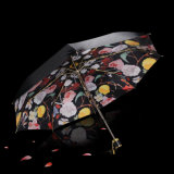 Women Men Fashion Creative Folding Sunny Rainy Anti-UV Umbrella Parasol Windproof Quality Gift