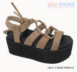 Womens Platform Sandals Hollow Open Toe Lace up Wedge Shoes