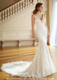 V-Neck Bridal Gowns Full Lace Mermaid Beach Garden Traveling Dress P217205