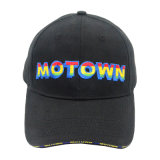 Customized Fashion Sandwich Cotton Baseball Cap with Dazzled Embroidery
