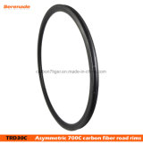 30*25 700c Dimple Brake Rims for Race Road Bike Made by Japan Toray T700 Carbon Fiber Clincher Finishig
