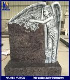 3D Weeping Angel Etching Antique Headstones for Sale