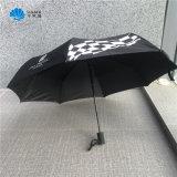 Cheap Auto Open Black 3 Fold Promotional Folding Gift Rain Umbrella