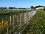 1090mm X 2500mm Europe Standard 17 PCS Uprights Hot Dipped Galvanized Crowd Control Barriers