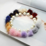Nine Colors POM Poms Pearl Double Sided Stud Earrings