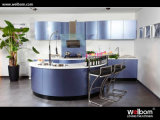 2015 New Welbom Moden Blue Lacquer Kitchen Cabinet Design