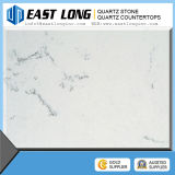 White Artifical Quartz Stone Countertops with Marble Vein