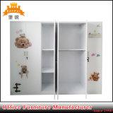 Wholesale Flower Printed Metal Furniture Steel Dressing Locker Wardrobe
