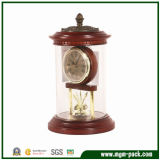 New Design Wooden Desk Clock with Cover