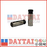 China CE Approved Rg59/RG6 Iecf CATV Compression F Connector