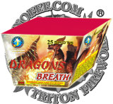 Dragon Breath 25 Shots Fan Cake Fireworks/ Cake Fireworks/ Lowest Price