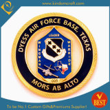Promotional Gift Custom Logo Air Force Gold Plating Soft/Hard Enamel Epoxy Metal Crafts Honor Award Police Military Army Coin