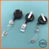 Rotating Clip Retractable Black ID Badge Reel