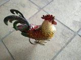 Metal Cock Figure Home and Garden Decoration