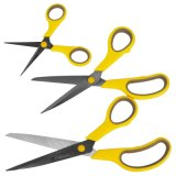 3PCS 2Cr13 Stainless Steel Office, Household, Student Scissors Set