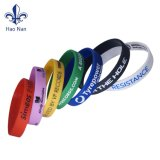 Custom Logo Debossed Printing Rubber Silicone Wristband