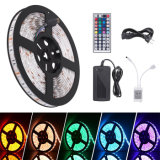 5m RGB 5050 SMD Waterproof LED Strip Light with IR Remote Control 12V Adaptor