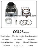 Motorcycle Parts Cg125 Motorcycle Cylinder Kit with Gaskets