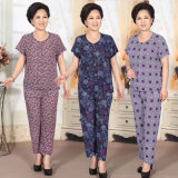Cheap and Stylish Garments Ice Silk Suits for Middle-Aged Women (H20-2)