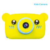 Cheap Mini Toy Digital Camera Video Camera Kids Camera with Bear Silicone Sleeve Photos Frame Game Toy camera