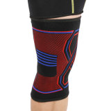 Knitted Nylon Rubber Material Knee Sleeve Colorful Elastic Breathable Knee Support
