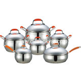 12PCS Stainless Steel Cookware Set Apple Shape