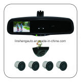 """Auto-Dimming Rearview Mirror with 4.3"""" LCD Monitor, Camera and Parking Sensor"""