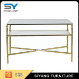 White Tempered Glass Console Table