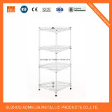 Chrome Coner Storage Rack/Display Shelf with Shining Appearance