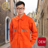OEM Orange Safety Pilot Coverall, Strong Polyester Cotton Fabric Airline Pilot Workwear Uniform